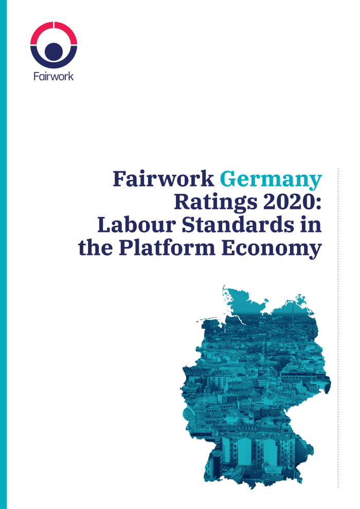 Fairwork Germany Report 2020 cover