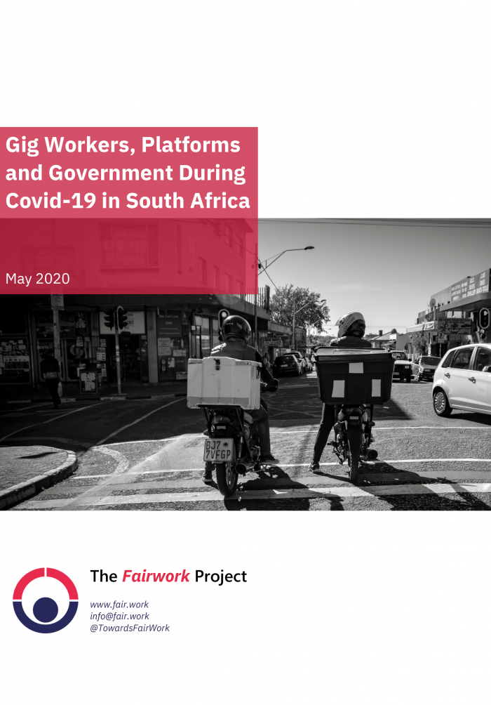 The Gig Economy and Covid 19 report cover