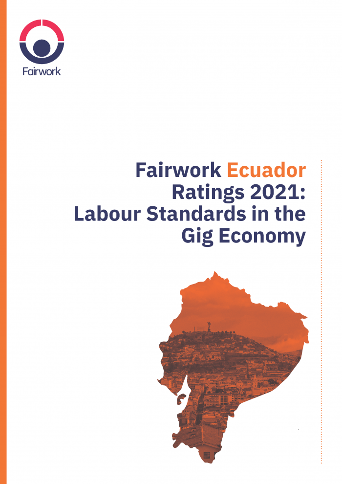 Fairwork Ecuador Ratings 2021: Labour Standards in the Gig Economy