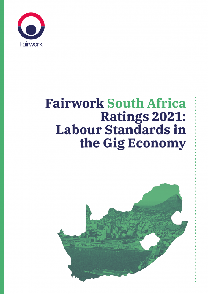 Fairwork South Africa 2021 report cover